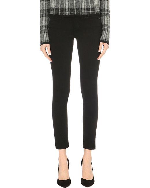 PAIGE | Black Skyline Ankle Peg Skinny Mid-rise Jeans | Lyst