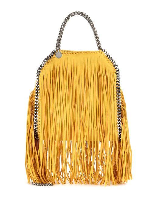 Stella McCartney | Yellow Mini 3chain Falabella Fringed Bag | Lyst