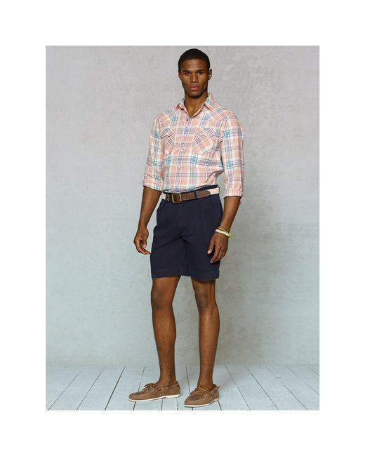 Polo Ralph Lauren | Blue Classic-fit Pleated Short for Men | Lyst
