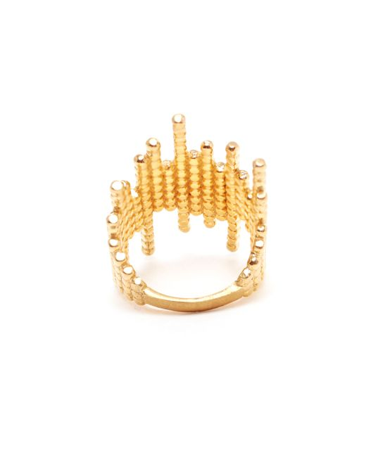 Maria Black | Metallic Yellow Gold-plated De-con Ring | Lyst