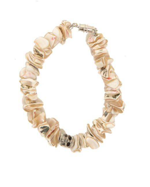 Duchess Of Malfi | Natural Shell Fragment Bracelet With Skull | Lyst