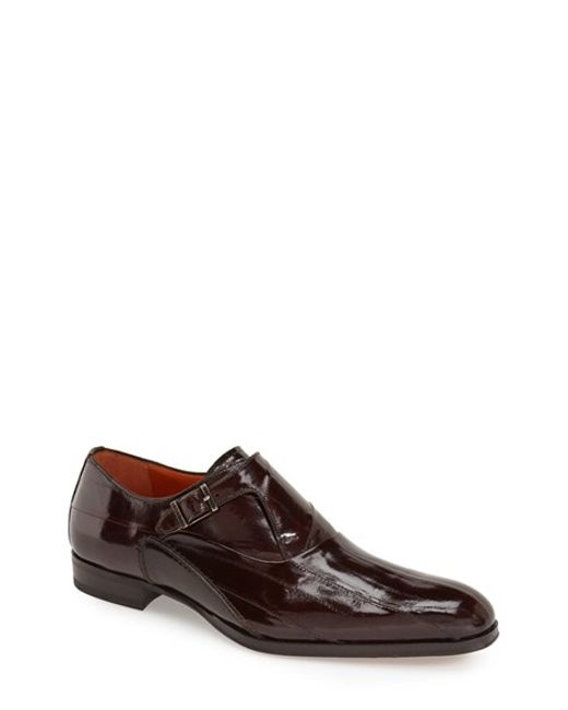 Mezlan | Brown 'orleans' Monk Strap Shoe for Men | Lyst