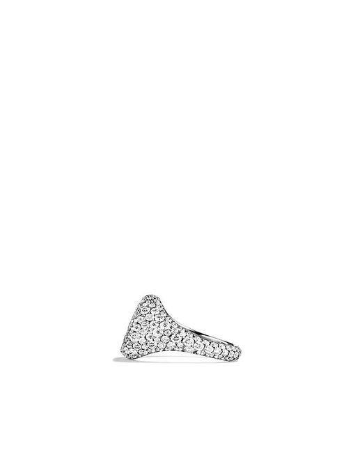 David Yurman | Petite Pavé Pinky Ring With Diamonds In 18k White Gold | Lyst