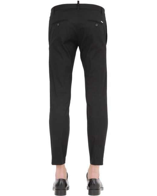 DSquared² | Black Zip Detail Trousers for Men | Lyst