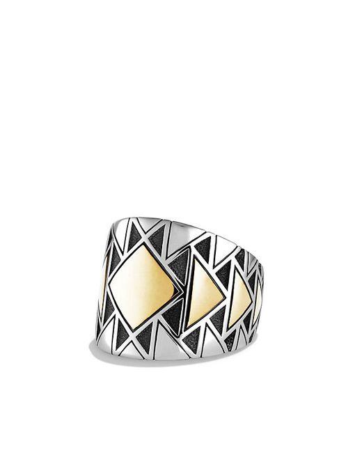 David Yurman | Metallic Frontier Ring With 18k Gold for Men | Lyst