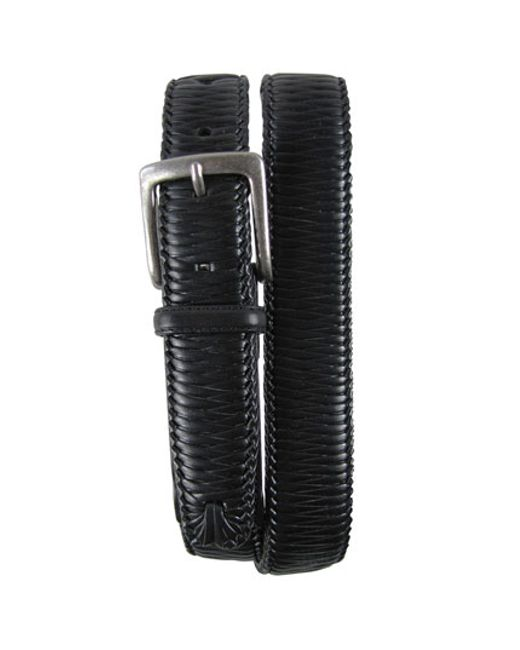 Tommy Bahama | Black 'largo' Woven Leather Belt for Men | Lyst