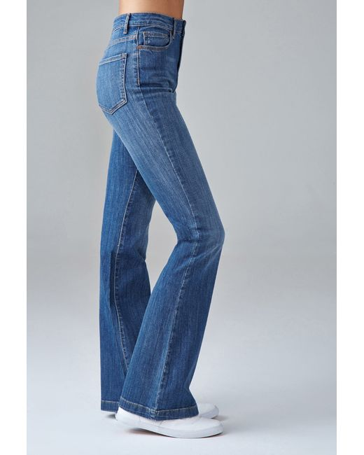 Forever 21 | Blue High-waisted Flare Jeans | Lyst