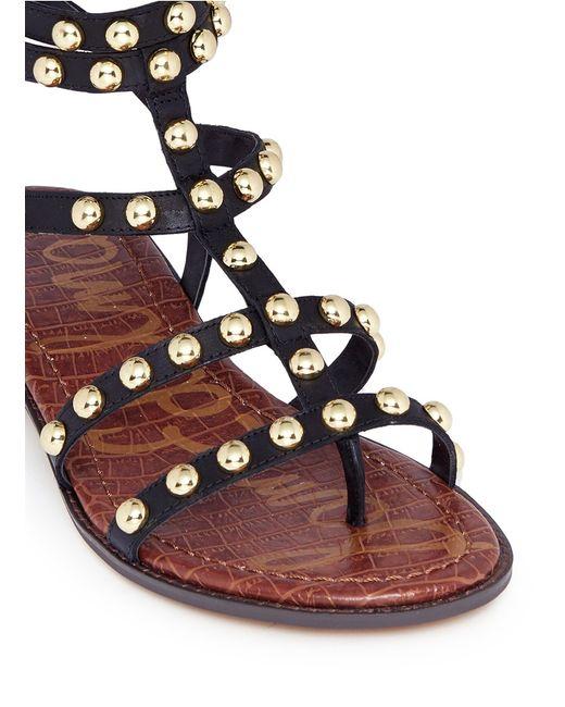 Sam Edelman Eavan Stud Leather Gladiator Sandals In