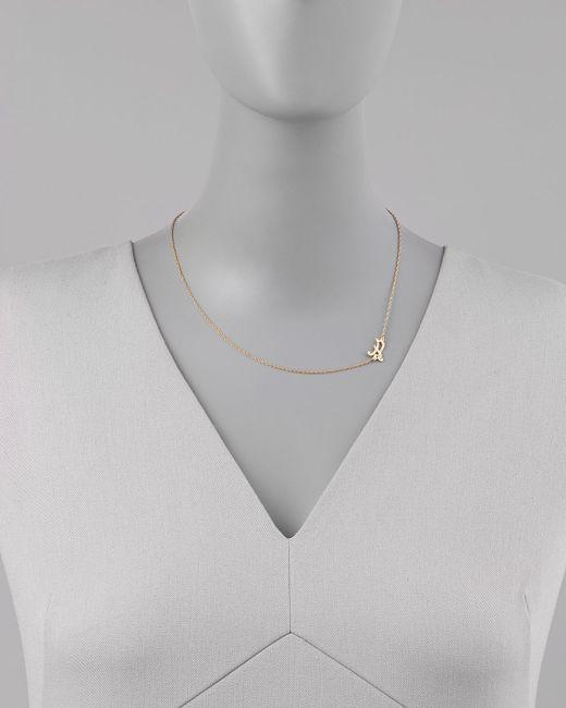 Jennifer Zeuner | Metallic 18k Gold Vermeil Mini Initial Necklace | Lyst