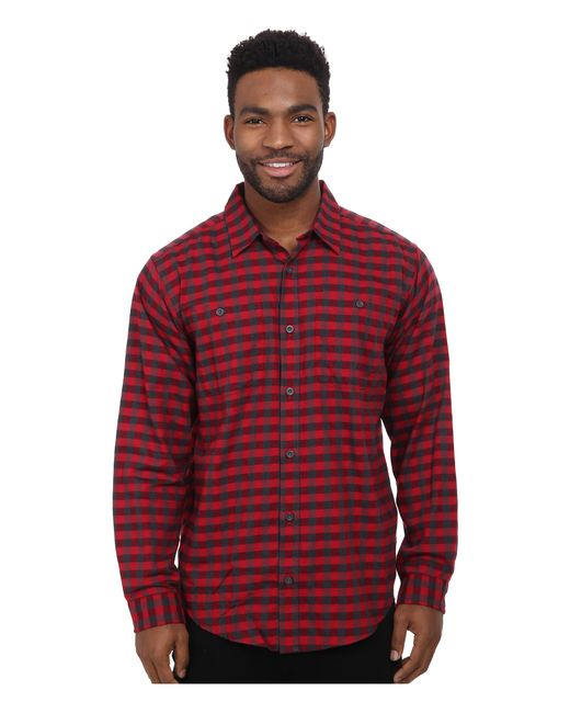 Patagonia | Red L/s Pima Cotton Shirt for Men | Lyst