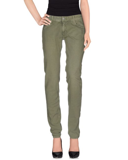 Care Label | Green Denim Pants | Lyst