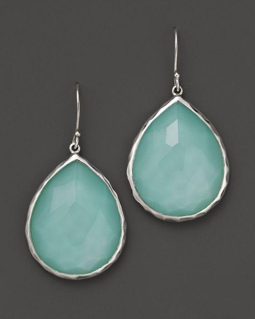 Ippolita | Blue Sterling Silver Wonderland Teardrop Earrings In Aqua Doublet | Lyst