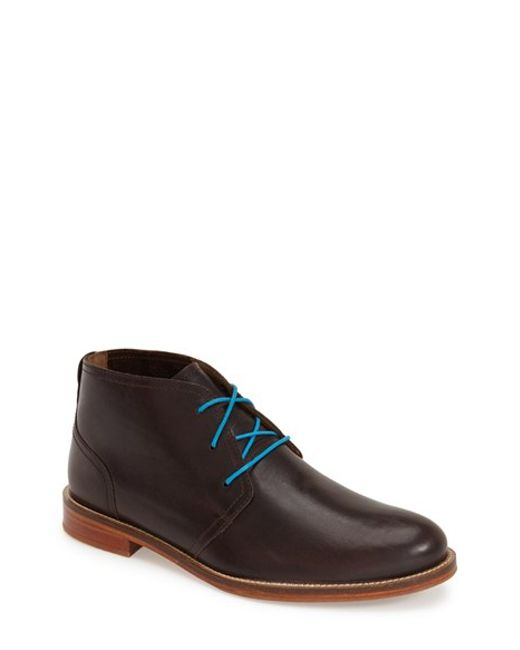 j shoes monarch plus chukka boot in blue for