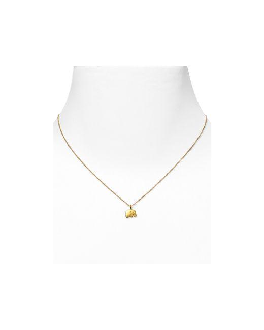 "Dogeared | Metallic Gold Good Luck Elephant Necklace, 18"" | Lyst"