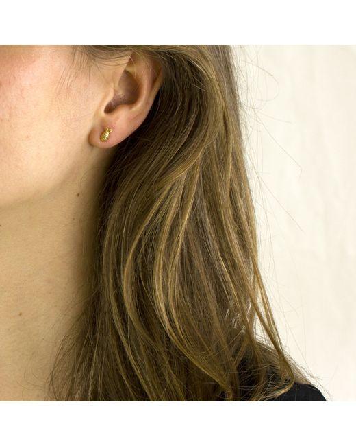 Lee Renee | Metallic Pineapple Stud Earrings | Lyst