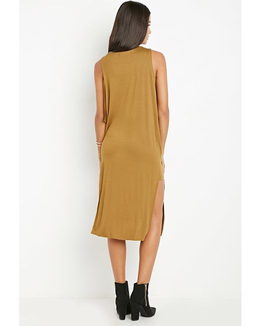 Forever 21 | Orange Twist Neckline Layered Dress | Lyst