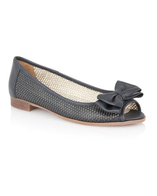 Lotus | Blue Willana Peep Toe Flat Shoes | Lyst