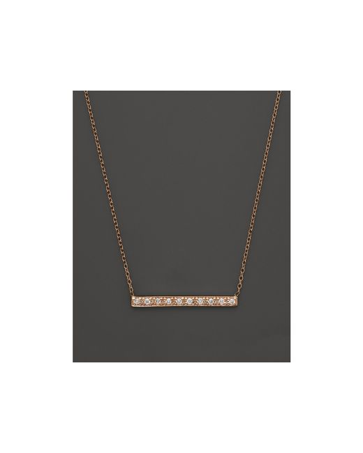 KC Designs | Pink Diamond Bar Pendant Necklace In 14k Rose Gold, .10 Ct. T.w. | Lyst