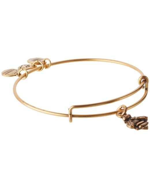 ALEX AND ANI | Metallic Bumblebee Charm Bangle | Lyst