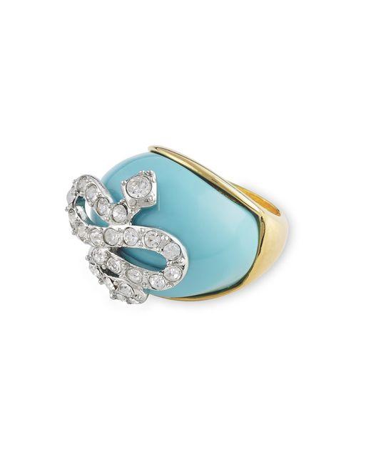 Kenneth Jay Lane | Blue Turquoise Snake Ring | Lyst
