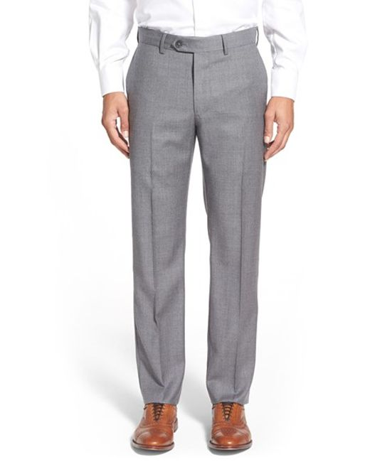 John W. Nordstrom | Gray John W. Nordstrom Creased Wool Chinos for Men | Lyst