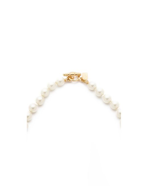 Kenneth Jay Lane | Metallic Imitation Pearl Necklace | Lyst