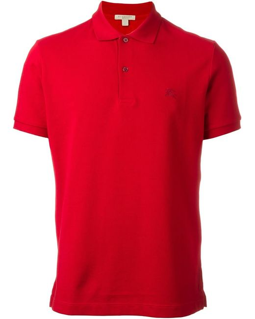 Burberry Brit Classic Polo Shirt In Red For Men Lyst