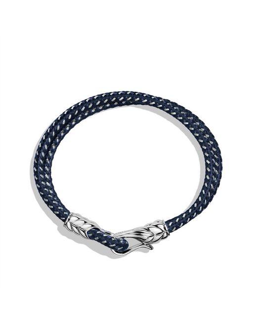David Yurman | Blue Chevron Tworow Bracelet in Navy for Men | Lyst