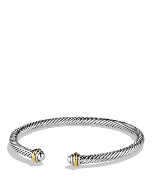 David Yurman | Metallic Cable Classics Bracelet With Gold | Lyst