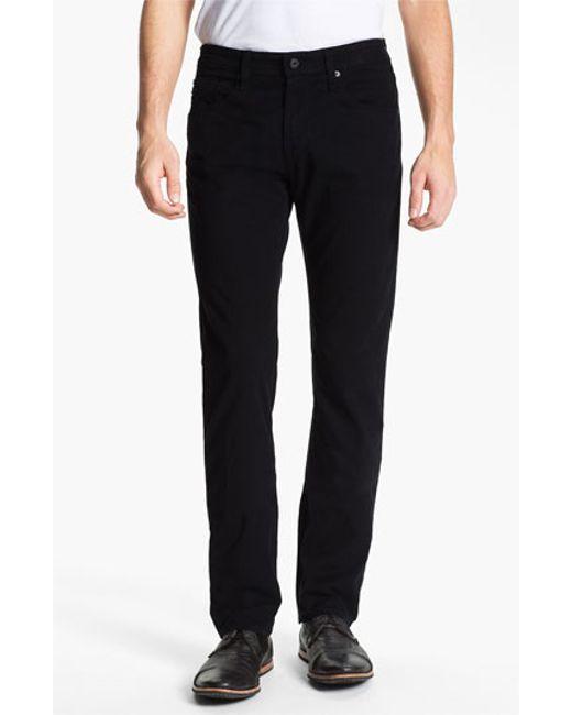 AG Jeans | Black 'matchbox Bes' Slim Fit Pants for Men | Lyst