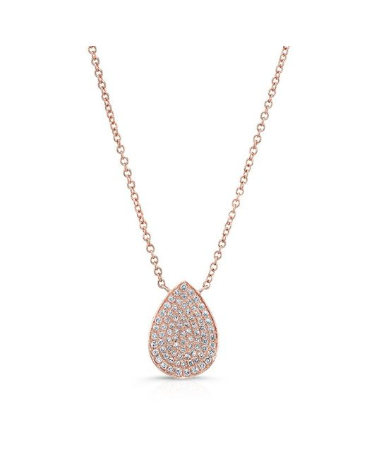 Anne Sisteron | Metallic 14kt Rose Gold Diamond Medium Pear Shaped Necklace | Lyst