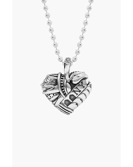 Lagos | Metallic 'hearts Of - New York' Reversible Pendant Necklace (online Only) | Lyst