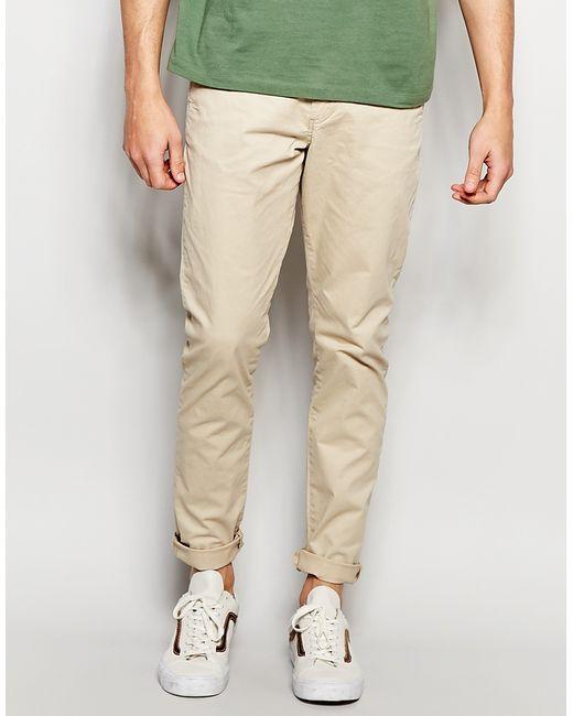 jack jones slim fit chinos with stretch in beige for men. Black Bedroom Furniture Sets. Home Design Ideas