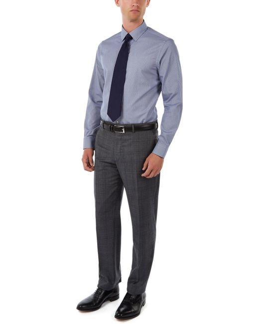 Jaeger | Blue Gingham Regular Non-iron Shirt for Men | Lyst