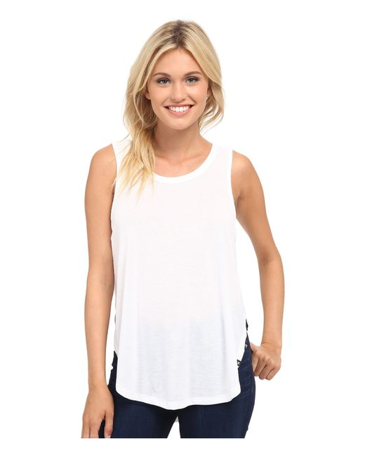 Hurley | White Solid Drapey Biker Tank Top | Lyst