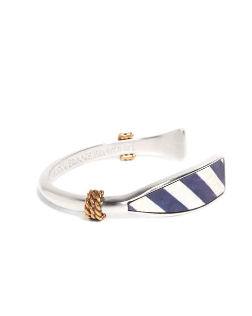 Brooks Brothers | Metallic Kiel James Patrick Navy And White Oar Bracelet for Men | Lyst