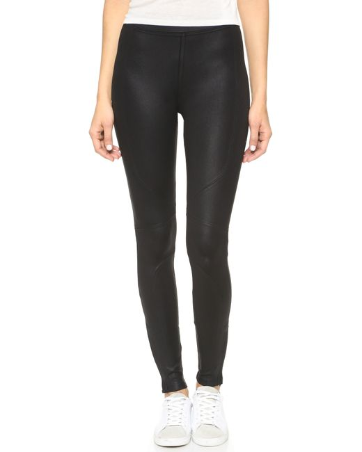 David Lerner | Black New Seamed Leggings | Lyst