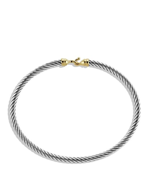 David Yurman | Metallic Cable Buckle Bracelet With Gold | Lyst