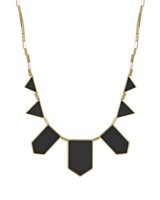 House of Harlow 1960 | Black Geo Bib Necklace | Lyst