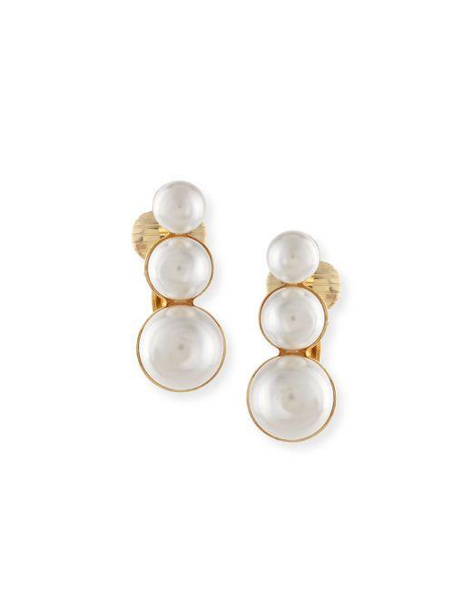 Auden | Metallic Lana Pearly Clip-on Earrings | Lyst