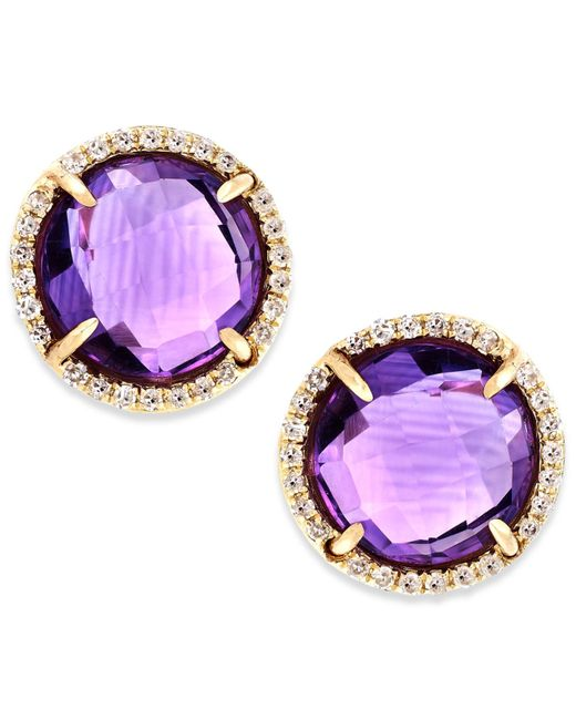 macy s amethyst earrings macy s amethyst 3 ct t w and accent stud 6503