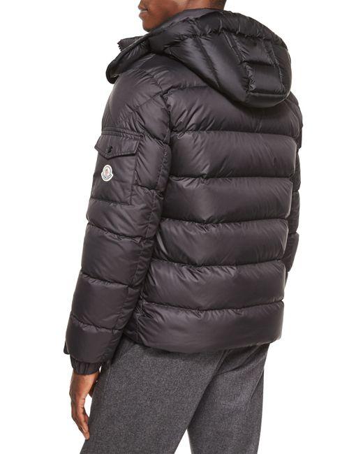 Moncler Himalaya Hooded Down Jacket In Black For Men Lyst