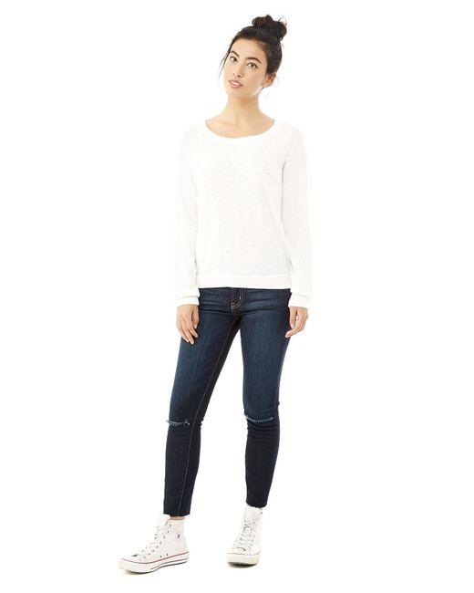 Alternative Apparel | White Slouchy Washed Slub Pullover Sweatshirt | Lyst