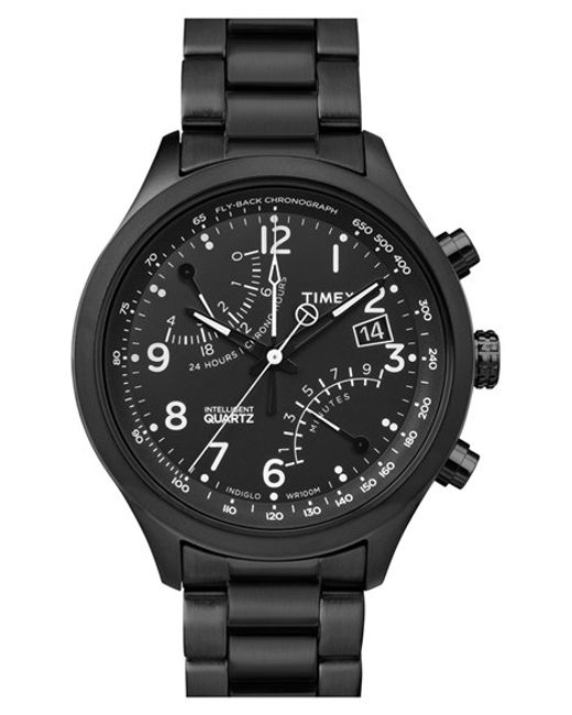 Timex | Black Timex 'intelligent Quartz' Fly-back Chronograph Watch for Men | Lyst
