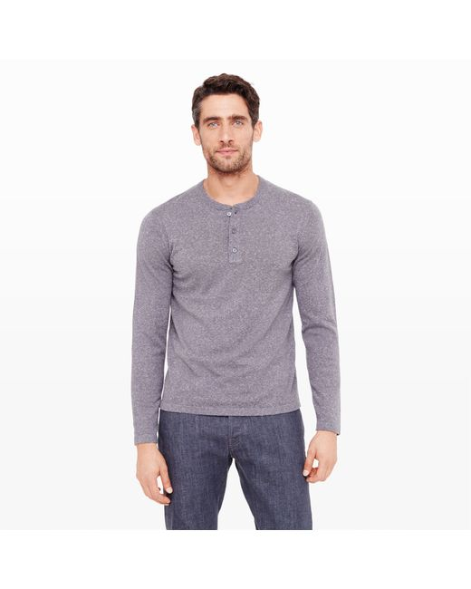 Club Monaco | Gray Lightweight Donegal Henley for Men | Lyst