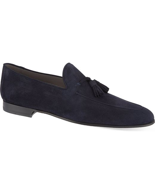 Saks Fifth Avenue Mens Blue Loafer Dress Shoes