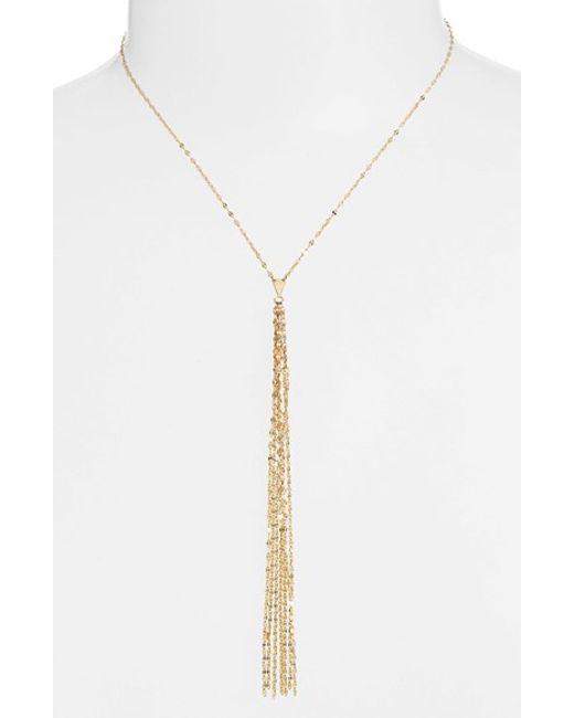 Lana Jewelry | Metallic 'blake' Y-necklace | Lyst