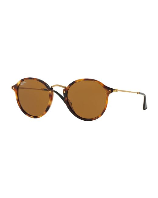 Ray-Ban | Brown Round Plastic/metal Sunglasses | Lyst