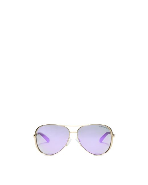 Michael Kors | Metallic Chelsea Sunglasses | Lyst