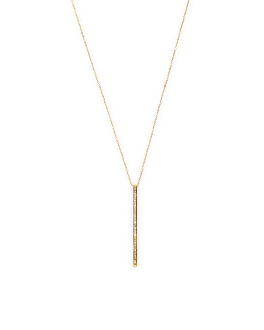 Maiyet | Metallic Baguette Bar Drop Long Necklace | Lyst